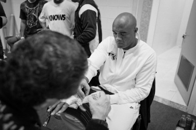 Anderson Silva Minutes Before Fight
